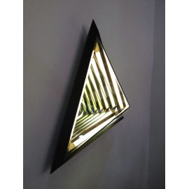 Stella Triangle LED Wall lamp Roll & Hill black color back view