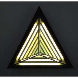 Stella Triangle LED Wall lamp Roll & Hill black color in bedroom