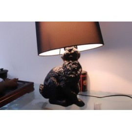 Rabbit table lamp Moooi black color side view