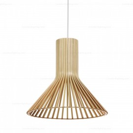 Secto Puncto 4203 pendant lamp Secto Design natural wood color side view