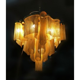 Stream Chandelier Terzani gold color front view