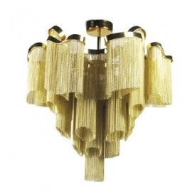 Stream Ceiling lamp Terzani gold color back view