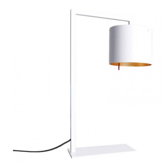Afra table lamp Anta white color front view