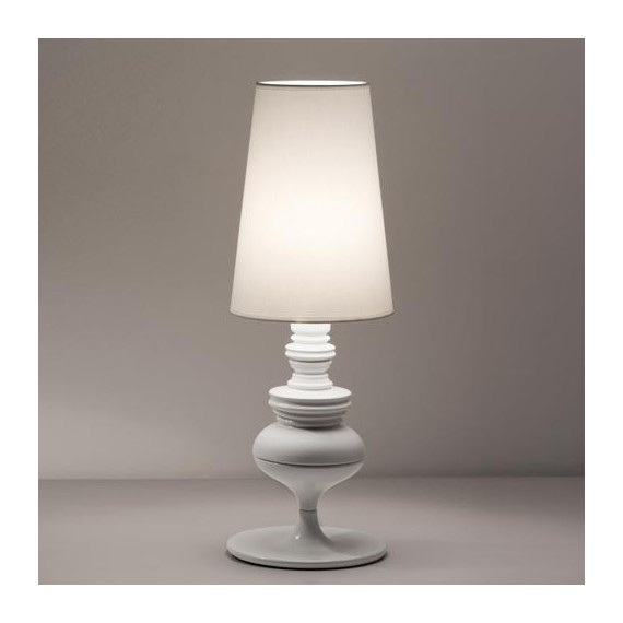 Joséphine M table lamp Metalarte white color side view