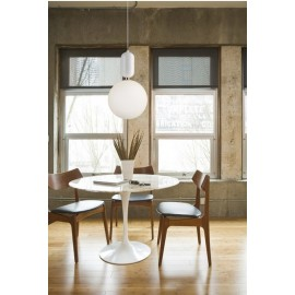 Aballs Pendant lamp in white color Parachilna side view