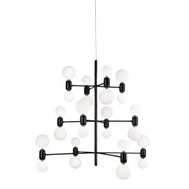 Aballs Chandelier Parachilna black color front view