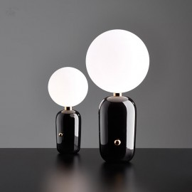 Aballs LED table lamp Parachilna black color front view