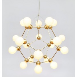 LINA 20 CHANDELIER ROSIE LI STUDIO gold color front view