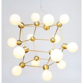 LINA 14 CHANDELIER ROSIE LI STUDIO gold color front view