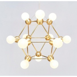 LINA 12 CHANDELIER ROSIE LI STUDIO gold color front view