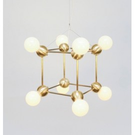 LINA 8 PENDANT LAMP ROSIE LI STUDIO gold color front view
