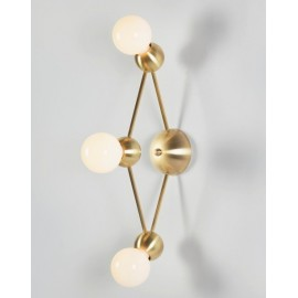 LINA DIAMOND WALL LAMP ROSIE LI STUDIO gold color front view