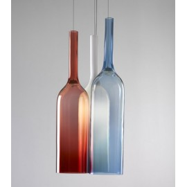 Jar RGB pendant lamp Lasvit white/blue/red color 3 bottles front view