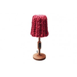 Granny table lamp Casamania red color front view