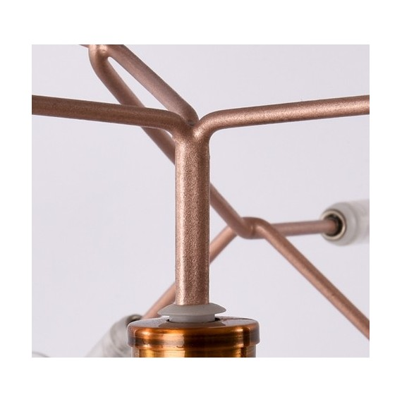 Heracleum LED table lamp Moooi copper color back view