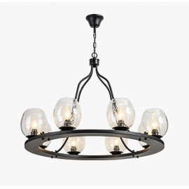 Industrial nordic style Bubble Iron Chandelier