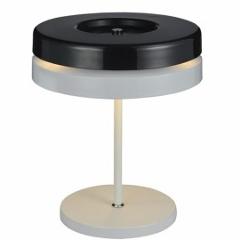 Toric table lamp Kundalini black color front view