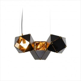 Welles pendant lamp GABRIEL SCOTT black color front view