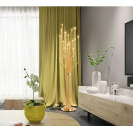 JANIS floor lamp Delightfull gold color side view