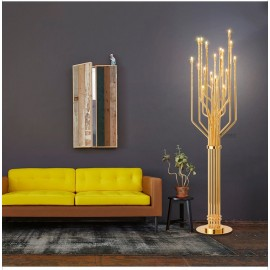 JANIS floor lamp Delightfull gold color back view