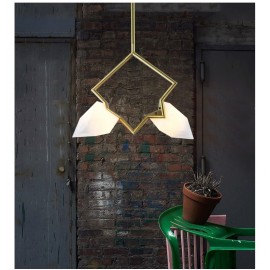 Seed double pendant lamp Roll & Hill gold color side view