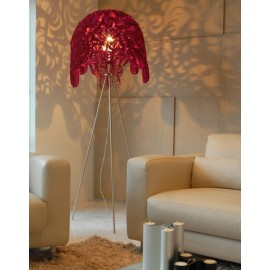 Marble floor lamp Innermost red color in living room