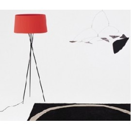 Tripod G5 floor lamp Santa & Cole red color side view