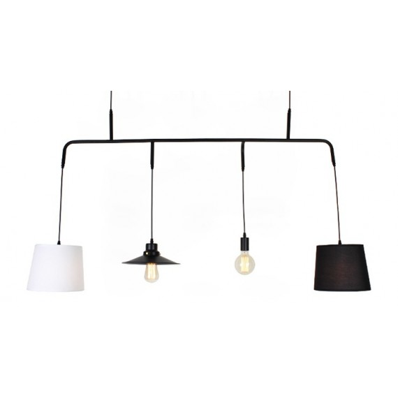 Vialattea pendant lamp with edison bulbs Pottery Barn black color front view