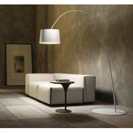 Twiggy floor lamp Foscarini white color side view
