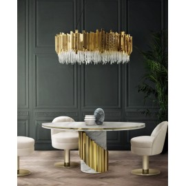 Empire pendant lamp Luxxu gold color side view