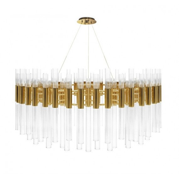 Waterfall Round suspension Luxxu gold color front view
