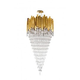 Trump Chandelier Luxxu gold color front view