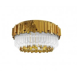 Empire ceiling lamp Luxxu gold color front view
